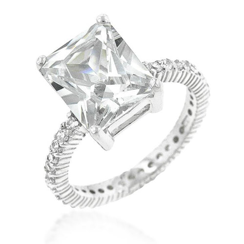 Chrisha 6.1ct CZ Sterling Silver Ring
