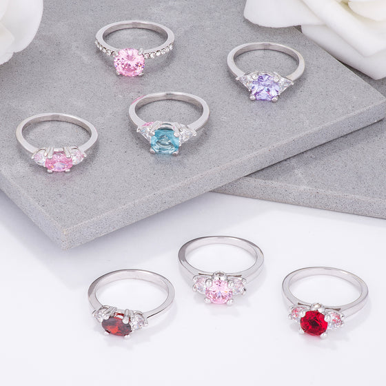 Colorful Sparkle Ring Collection