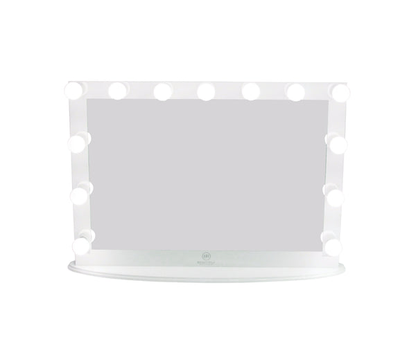 Hollywood Makeup Vanity Mirror XL White with Dimmer, Tabletop or Wall Mounted Vanity, LED Bulbs Included