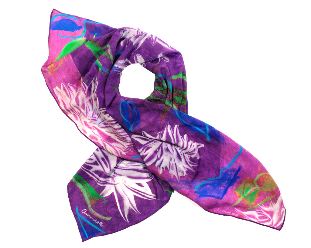 Le Foulard 'Dragon Flowers' (Limited Edition)