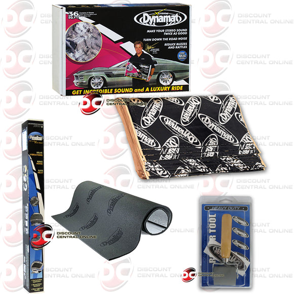 DYNAMAT 10455 XTREME SOUND DAMPENING PACK (9 SHEETS) + HEAVY DUTY ROLLER & INSULATION KIT