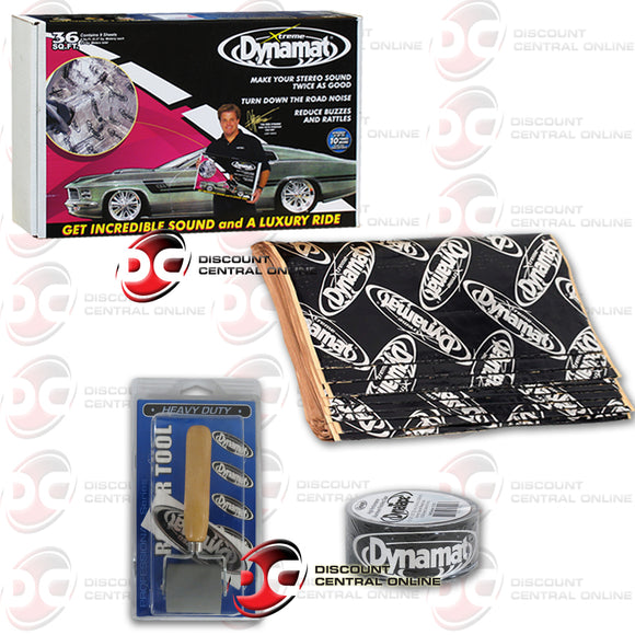DYNAMAT 10455 XTREME SOUND DAMPENING PACK (9 SHEETS) + HEAVY DUTY ROLLER & ALUMINUM TAPE