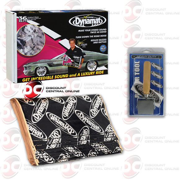 DYNAMAT 10455 XTREME SOUND DAMPENING PACK (9 SHEETS) +  DYNAMAT 10007 HEAVY DUTY ROLLER