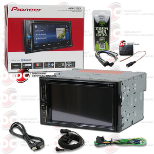 "Pioneer AVH-210EX 2-Din 6.2"" Car AM/FM/CD/DVD/USB Receiver With Bluetooth Plus Steering Wheel Harness"