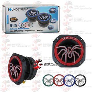 "Soundstream SPT-22 1.75"" 4 Ohm Pro Audio Aluminum Car Tweeters"