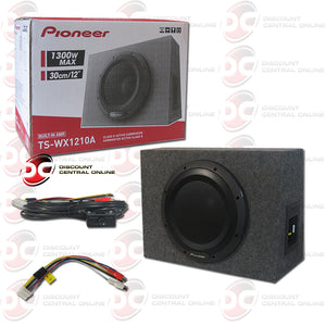 "Pioneer TS-WX1210A 12"" Amplified Shallow Mount Enclosed Car Subwoofer"