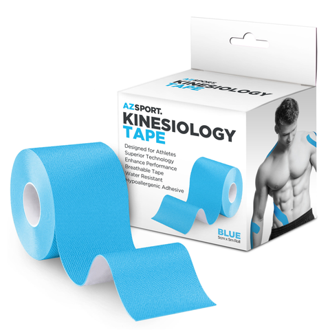 AZSPORT Kinesiology Tape, Uncut 2 Inch x 16 Foot Roll, Blue