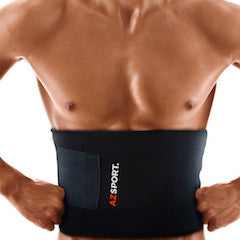 AZSPORT Waist Trimmer, One Size Fits up to 50 Inches, Black Color