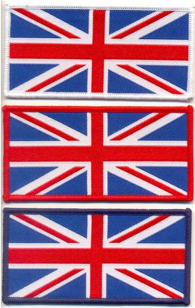 WOVEN UNION JACK IRON ON PATCH LARGE - Speedwear Ltd