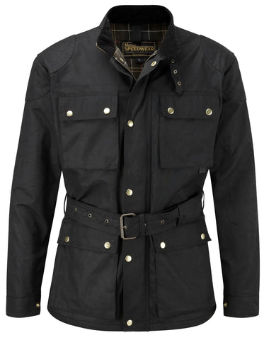 CLASSIC WAX COTTON MOTORCYCLE JACKET - Speedwear Ltd