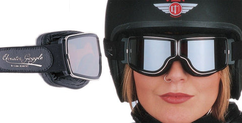AVIATOR GOGGLES RETRO PILOT T2 CHROME 670762 - Speedwear Ltd