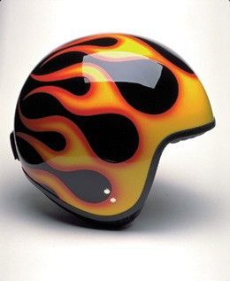 DAVIDA JET BLACK AND FLAMES - Speedwear Ltd