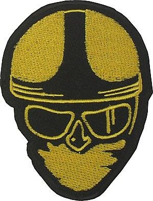 CLASSIC HEAD WOVEN PATCH GOLD - Speedwear Ltd