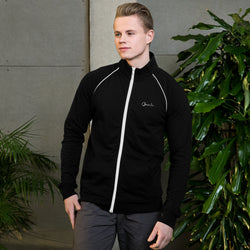 Omenka Signature Logo Piped Fleece Jacket - Omenka