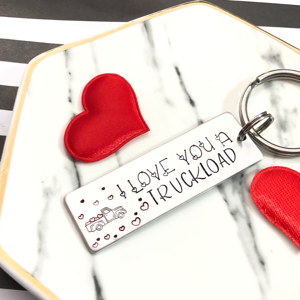 I LOVE YOU A TRUCKLOAD-PICK UP- KEYCHAIN