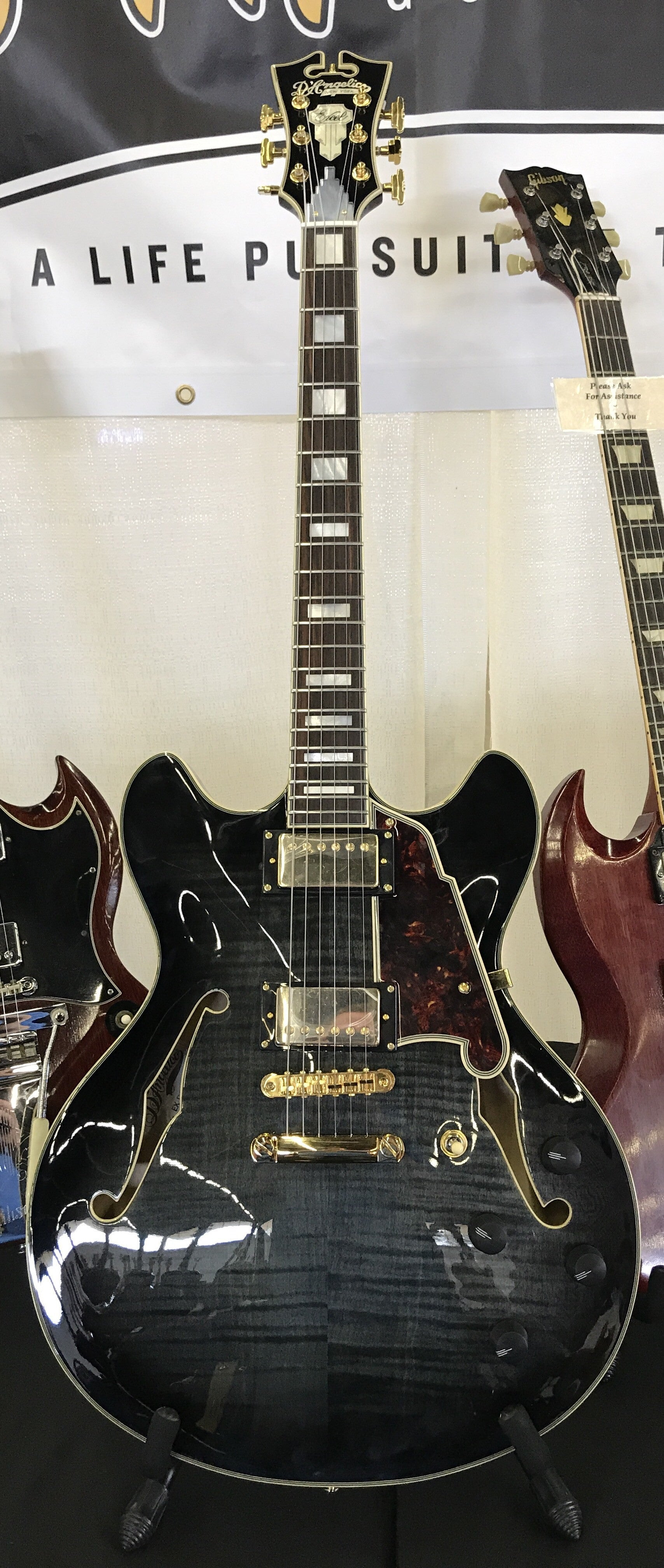 D'Angelico EX DCSP Trans Black  ****SOLD****