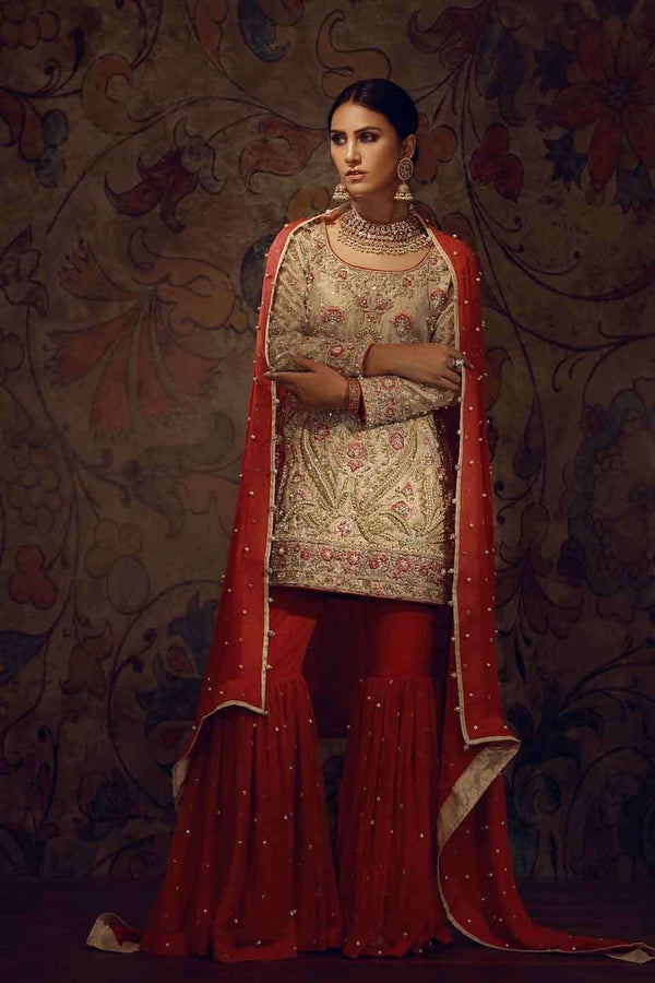 Luxury Pret, Pakistani Fashion Designer GOLD EMBROIDERED HANDWORK - Phatyma Khan