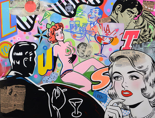 king of pop art nelson de la nuez after hours bar lounge martini cocktail pinup