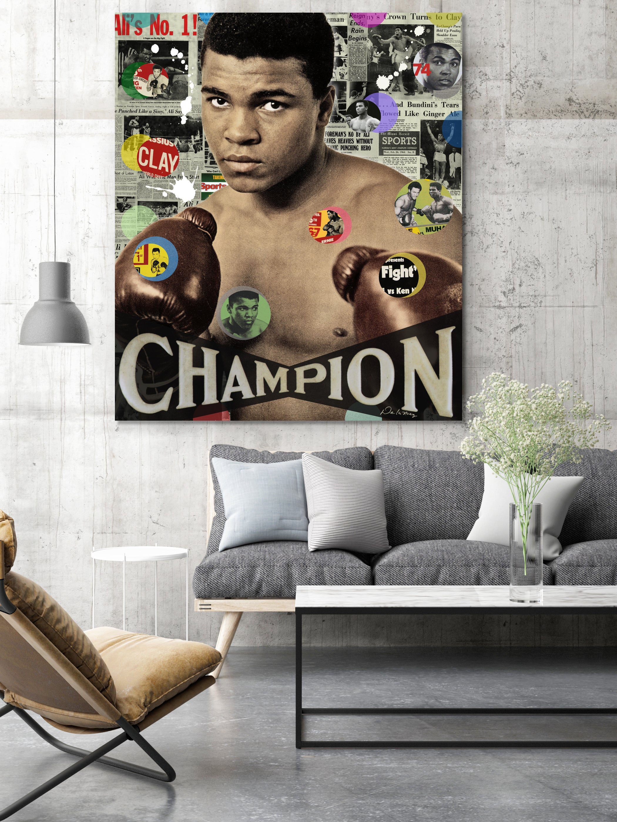 muhammad ali boxing pop art contemporary art nelson de la nuez pop artist king of pop art