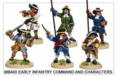Early Infantry Command and Characters (MB400)