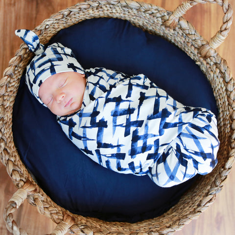 Monet Swaddle and Hat Set