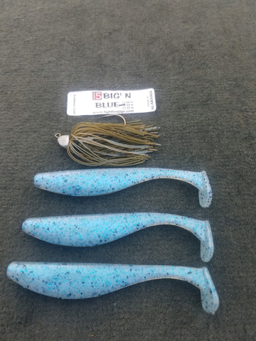 Catch 5 Big' N Swimming Jigs - Blue