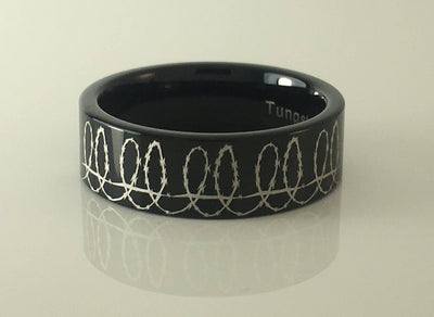 Tungsten Barbed Wire Ring