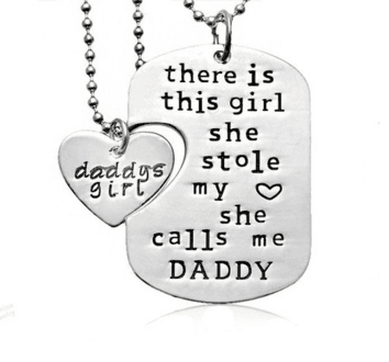Necklaces - Father Daughter Interlocking Pendants