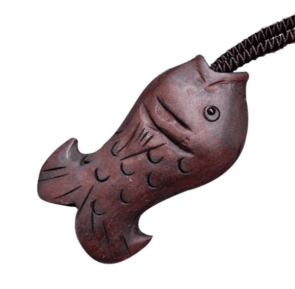 Necklaces - Wooden Fish Pendant Necklace