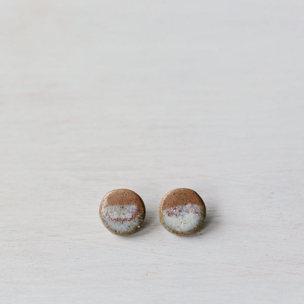 Woodfolk Salty Rose Large Circle Studs -Jewellery Melbourne