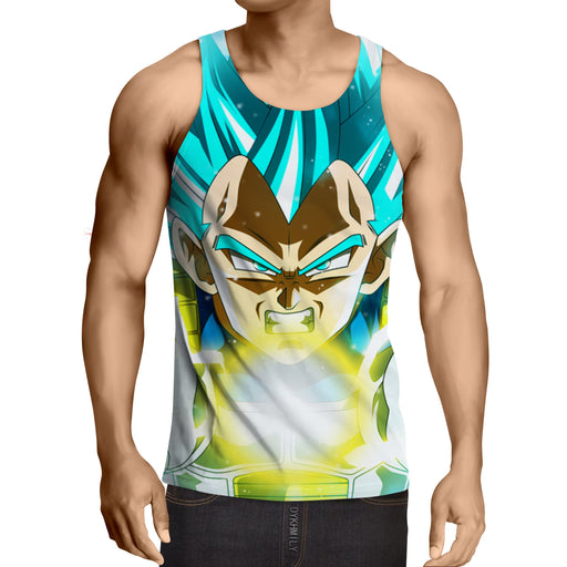 DBZ Vegeta Super Saiyan God Kamehameha Cool Style Tank Top