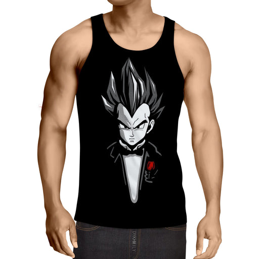 Dragon Ball Vegeta God Father Style Dope Design Tank Top