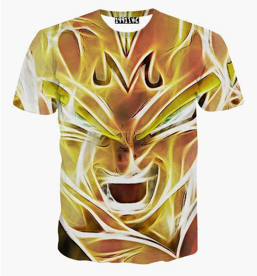 Dragon Ball Z - Super Saiyan Majin Vegeta 3D T-Shirt - Saiyan Stuff