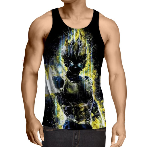 Dragon Ball Z Super Saiyan Vegeta Yellow Aura Epic Tank Top