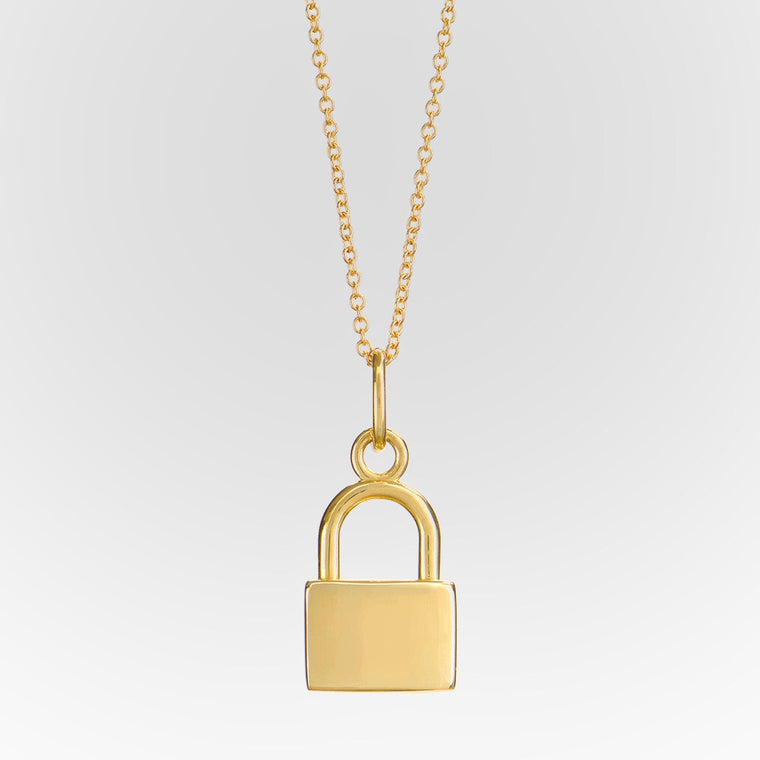 18k Lock Necklace