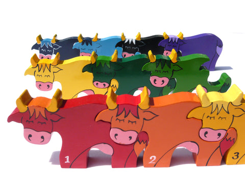 Number Cow Row Jigsaw Puzzle