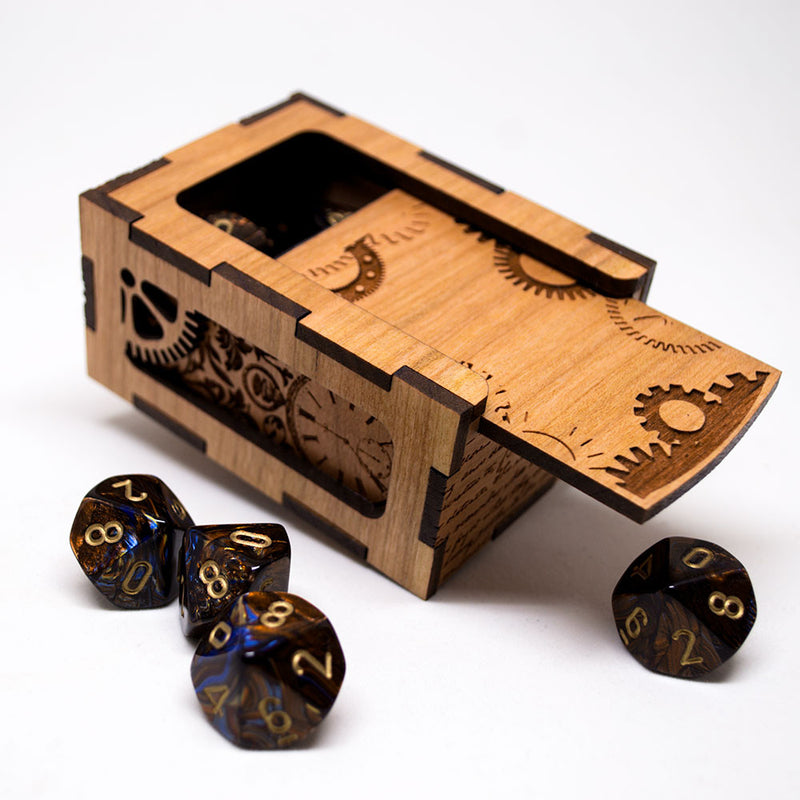Dungeons and Dragons Steampunk Dice Box - D&D Dice Box