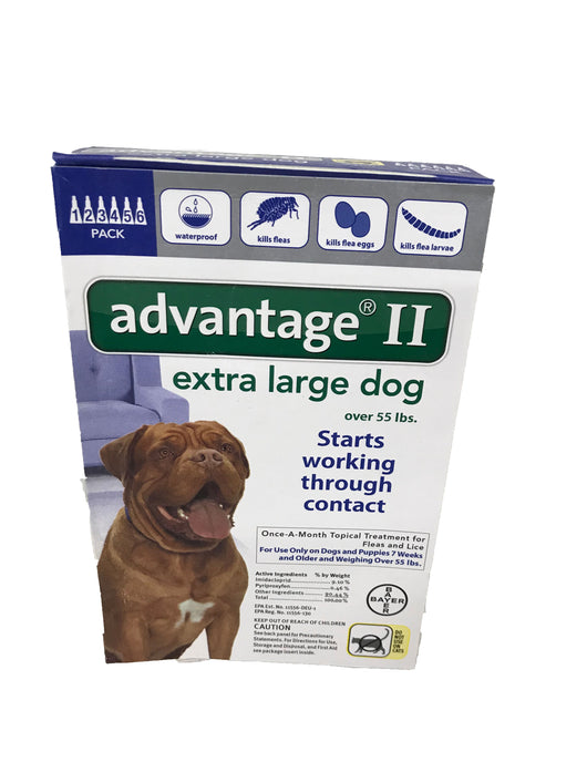 Bayer Advantage II Flea Treatment Dogs- Extra Large Dogs - Wilkerson Trading