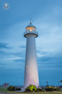 Biloxi Lighthouse after Sunset