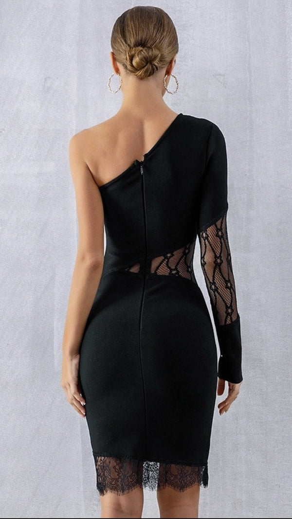 Jessica Bara Arinka One Shoulder Mini Dress