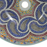 Moroccan AISA Hand-Painted Bathroom Sink