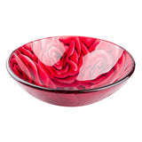 Roses glass vessel  BATHROOM SINK