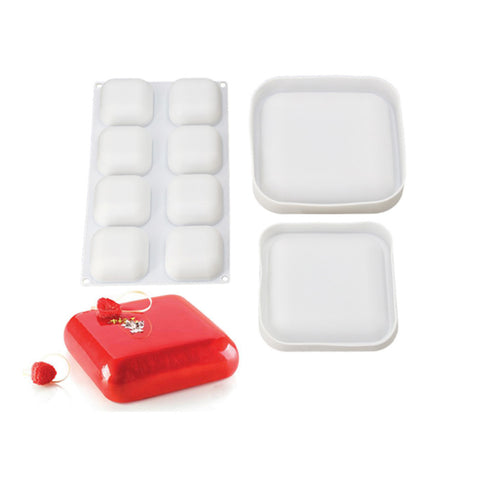 Silicone Bakeware 3D Square Pans Set of 3 Pieces