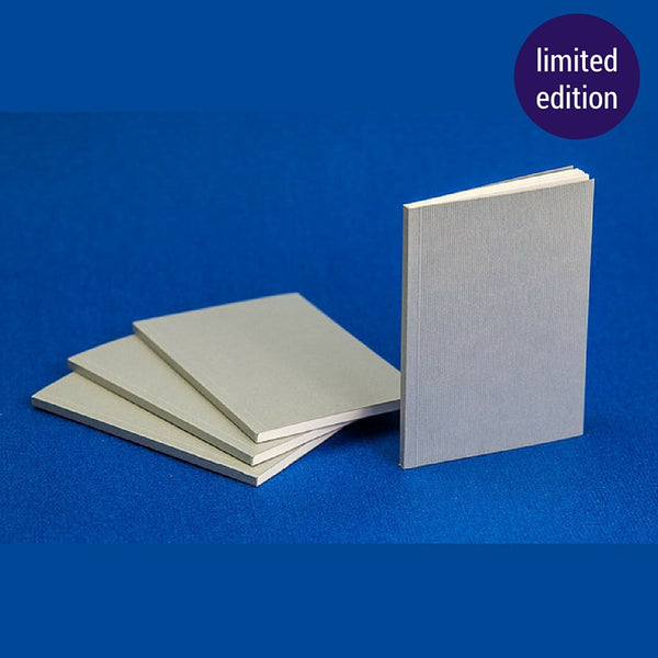 silver ribbed notebook – limited edition