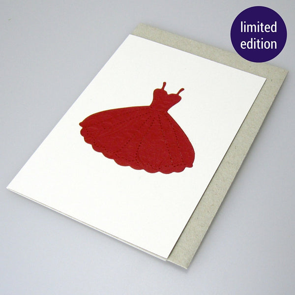 greeting card - red dress
