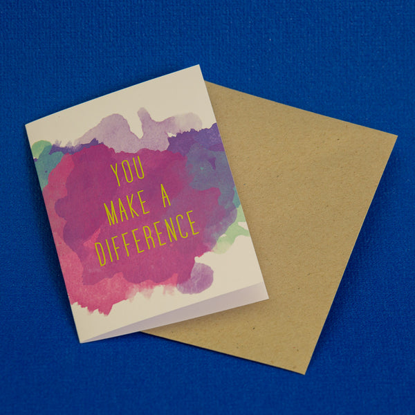 you make a difference card