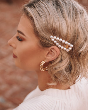 Izoa Splendour Hoop Earrings Gold