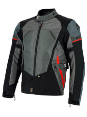 Richa Scirocco Waterproof Textile Motorbike Motorcycle Jacket - Black/Grey - Richa -  - MSG BIKE GEAR - 1