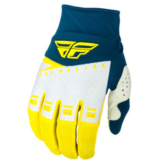 Fly Racing F-16 Adult MX Motocross Off Road Gloves -  Yellow/White/Navy S