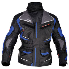 Oxford Oslo Long Waterproof Textile Motorbike Motorcycle Jacket Grey/Blue - Oxford -  - MSG BIKE GEAR - 1